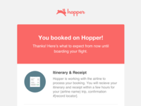 Hopper Booking Trigger Emails