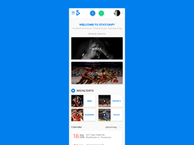 Stationfy Homepage for Mobile website web app ux ui stationfy station sports redesign highlights