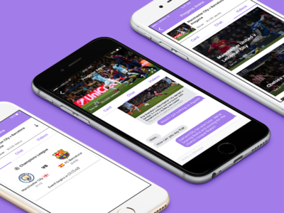 Inside an Arena ux ui stationfy sports soccer messaging iphone ios video chat arena