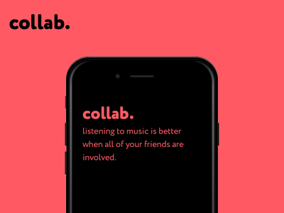 Project Collab sharing friends iphone ios ux ui apple music spotify music queue playlist