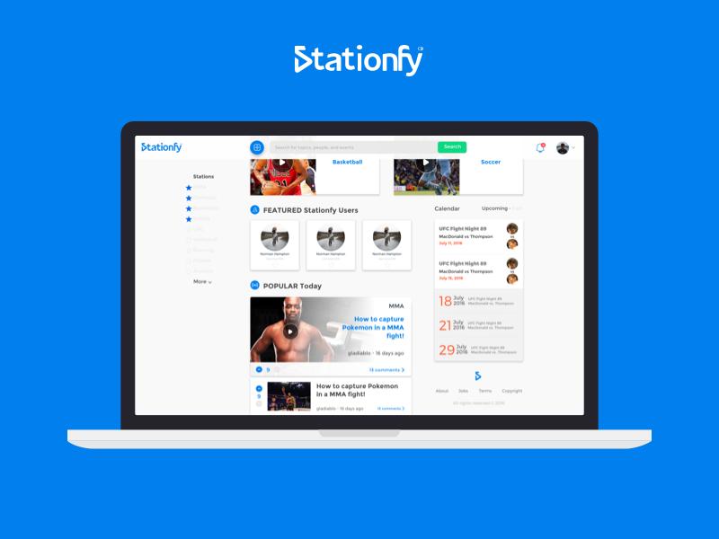 Stationfy web mock
