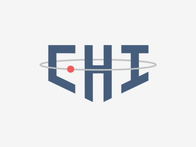 """CHI"" Logo school project orbit planet star chicago chi vector illustrator logo"