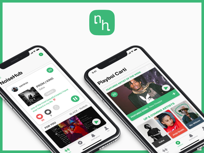 NoiseHub social play ios jukebox feed iphone spotify apple music app noisehub sound noise ux music ui