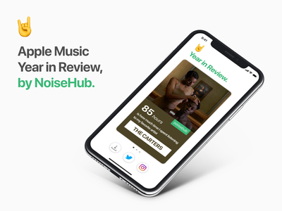 Apple Music Year in Review year in review review year app noisehub ux ui wrapped music apple apple music
