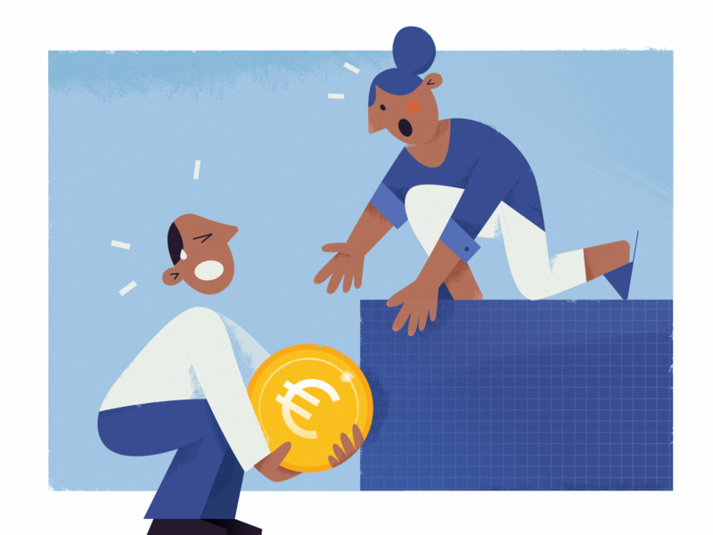 the economic crisis covid19 crisis coronavirus covid marketing social media coin illustraion heavy hard currency europe euro money social huliganio studio huliganio team alexandrovi alexandrov huliganio