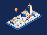 Isometric city in the phone iphone x iphone phone car isometric illustration isometric design aleksandrov development technology town city isometric city isometry isometric huliganio team huliganio studio alexandrovi huliganio alexandrov illustration