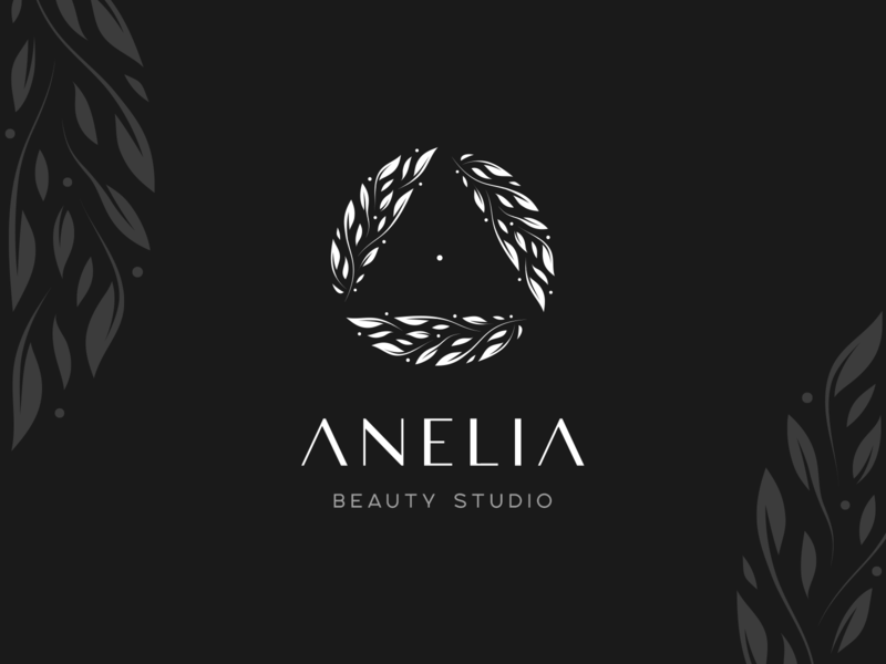 Beauty Studio - Anelia hairdresser female beauty salon salon typogaphy symbol brand identity brand identity logotype leaf logo woman cosmetic nature leaf beauty huliganio team alexandrov alexandrovi huliganio