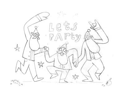 Bye bye 2020 ipadpro procreate vector dance happy party newyear christmas santa covid holiday happy new year 2021 2020 new year huliganio aleksandrov alexandrovi illustration alexandrov