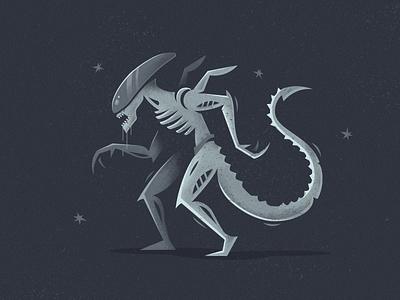Alien space illustration movie fireart studio fireart covenant xenomorph aliens alien
