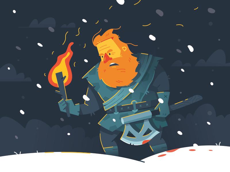 Game of Thrones (GOT) example #496: Tormund behind the wall