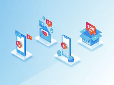 Isometric illustrations voice call chat app onboarding call app calling app call center service mail iphone calling raza call isometric icons isometry isometric illustration huliganio team huliganio alexandrovi alexandrov
