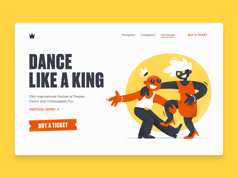 Dance like a king - Landing page
