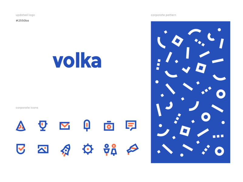 Corporate Identity. Volka illustration pattern icons sticker corporate design corporate identity logotype logo branding agency brand identity brand design graphic design graphicdesign identity design identity branding brand huliganio alexandrovi aleksandrov