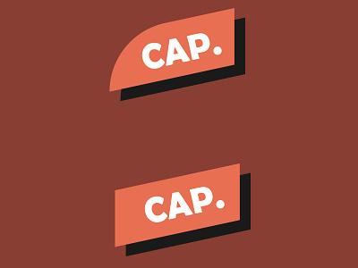 CAP. illustration vector logo icon