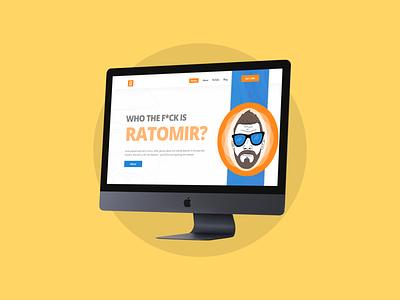 Ratomir Website typography vector ux design flat design website design design personal website portfolio website landing ratomir