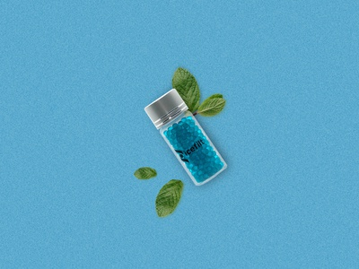 flacon menthe product design branding brand blue product