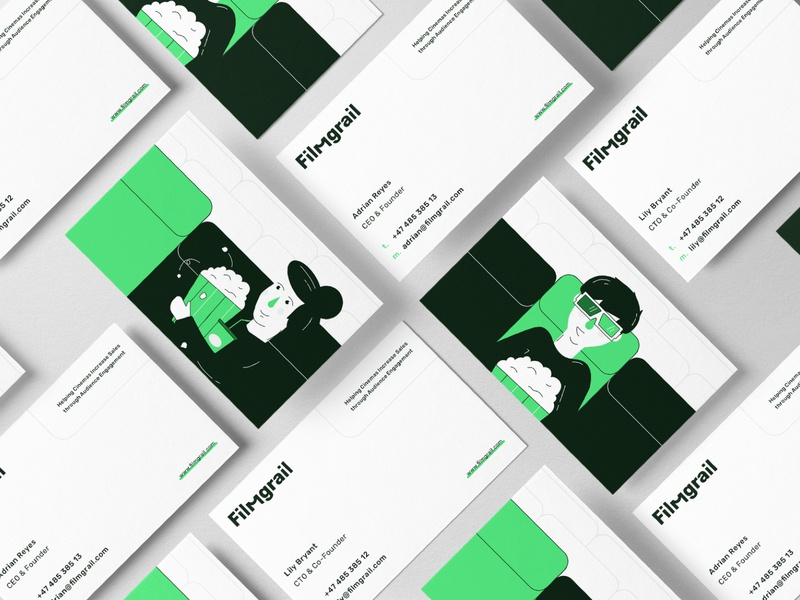 Filmgrail – Business Cards business card design illustration logo branding