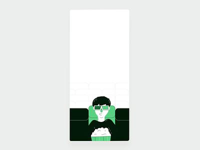 Filmgrail – App Onboarding onboarding app interaction animation illustration design ux ui