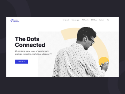 The Dots Connected – Hero animation interaction branding design web design web ux ui