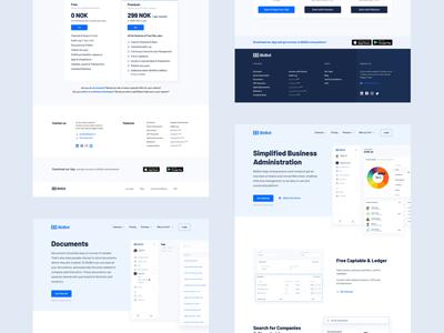 BizBot – Website landing page fintech clean animation branding web design web ux ui design