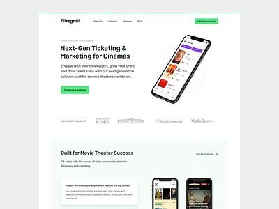 Filmgrail – Website app cinema clean interaction branding web design ux web ui design