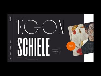 Egon Schiele – Portfolio Exploration I portfolio website grid typography layout motion interaction web design