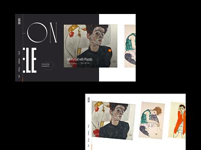 Egon Schiele – Portfolio Exploration II typography grid layout web design website portfolio