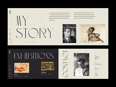 Egon Schiele – Portfolio Exploration III layout typography portfolio site web design design