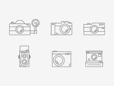Photography Icon Set photo free clean minimal linear set icon photography