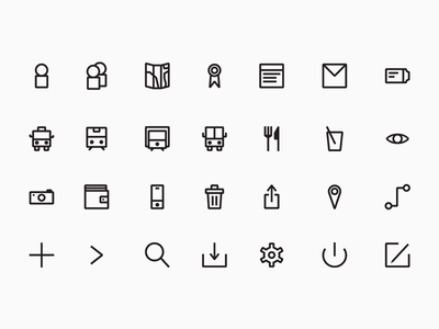 Icons | Backpack app set icon ui minimal linear icons app travel backpack