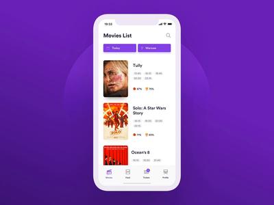Cinema App – Interaction ux ui principle interaction concept movies cinema cinema app
