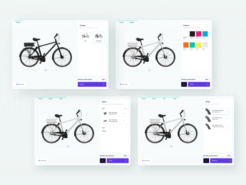 E-Bike Configurator 01 web design user interface ux ui web configurator e-bike