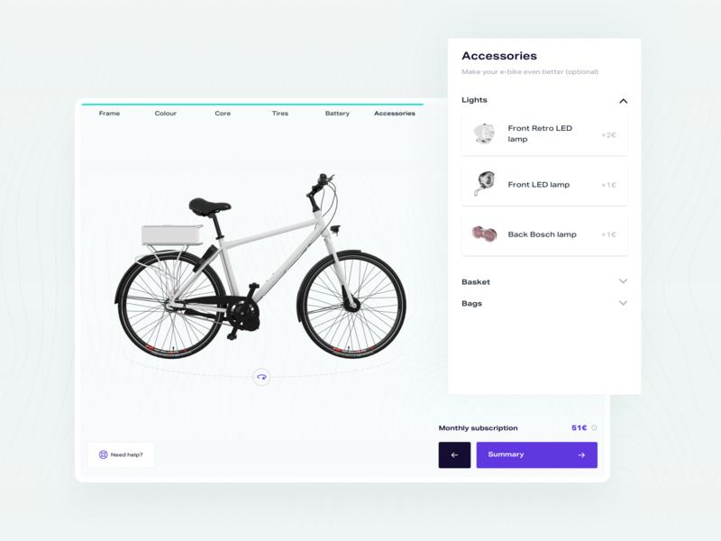 E-Bike Configurator 03 web design web interface design ux ui configurator e-bike