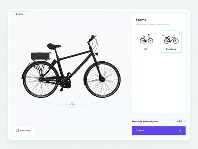 E-Bike Configurator 04 – Interaction bike animation interaction configurator e-bike design web design web ux ui