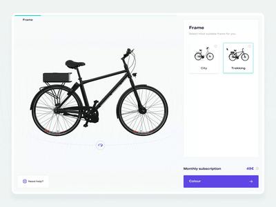 E-Bike Configurator 04 – Interaction bike animation interaction configurator e-bike design web design web ux ui