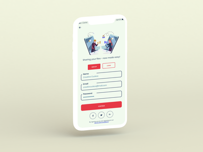 Sign Up Page art graphic design flat minimal web app ux vector ui illustration design dailyui