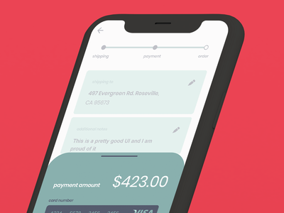 Payment Checkout app typography ui ux minimal illustration art flat design dailyui