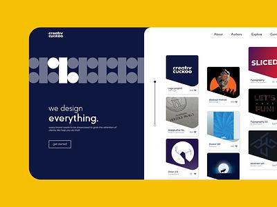 Landing page - Creative Agency web vector graphic design ux ui minimal illustration flat dailyui design
