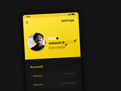 User Settings branding vector ui flat app ux minimal illustration dailyui design