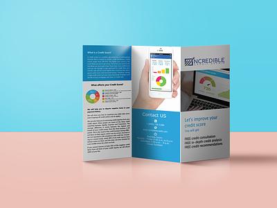 Tri Fold Brochure Mockup design logo branding illustration