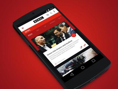 BBC - News App Concept  android bbc news