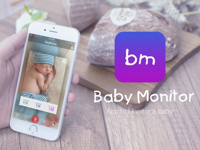 Day 69 - Rebound - Baby Monitor design flat iphone baby mobile