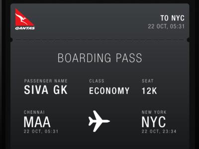 Boarding Pass ticket borading pass iphone