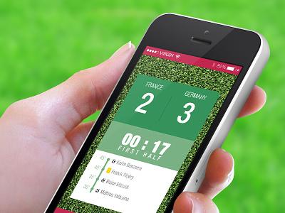 Football Score App iphone score football