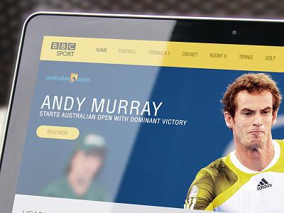 BBC SPORT - Concept UI page landing sports web bbc