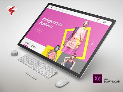 Fashion Trends - XD Concept adobe xd ecommerce vibrant fullscreen web trends website fashion download freexdweb 12col web 1920 web