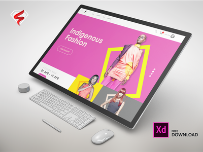 Fashion Trends - XD Concept adobe xd ecommerce vibrant fullscreen web trends website fashion download freexdweb 12col web 1920 web