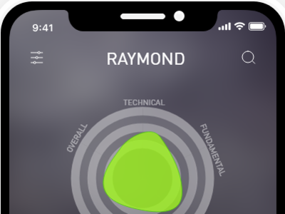 StockMe app ux ui mobile flat design iphone dark background dashboard mockup dark chart simpleui stockmarket stock iphonex