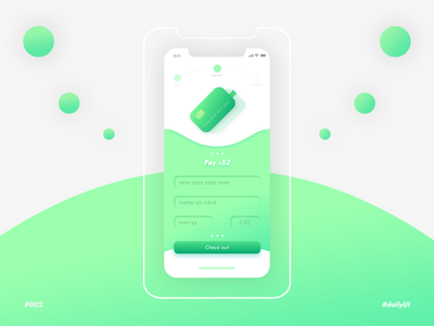 Green payments - Daily UI n°002 pay order green app ui payments payment app payment credit card checkout credit cards creditcard