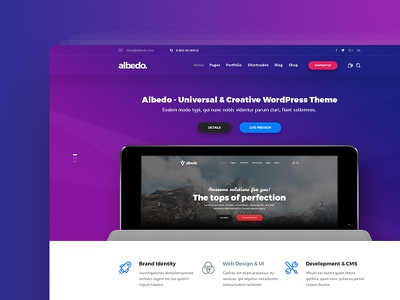 Albedo – Creative Agency PSD Template modern universal creative ui website agency template psd